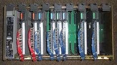 What a collectors item called a PLC2 16 slot PLC looks like. :) Allen Bradley 1772-LWP Mini PLC-2/17 W/Power Supply 16 Slot Rack