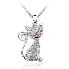 Would you wear this cute cat necklace? Tag a friend & let them know you want one!  Check out the other colors we have MEOW=> https://www.justlovecats.com/collections/necklaces/products/crystal-and-rhinestone-cat-pendant-necklace?utm_source=fbnewsfeed&utm_medium=organic&utm_campaign=kei  Don't furrget to Like & Share! Just Love Cats