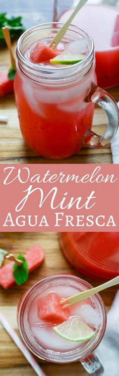 This easy watermelon agua fresca recipe is light and refreshing on a hot summer day. With a splash of club soda for bubbles, sip this all season long!