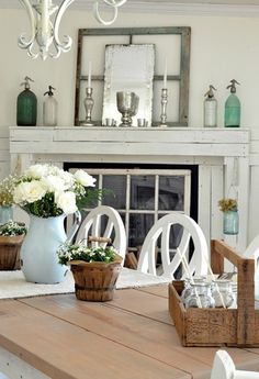 Love the fireplace decor, colors,and especially the window pane on the fireplace