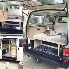 bett im caddy caddy camper pinterest ausbau camper. Black Bedroom Furniture Sets. Home Design Ideas