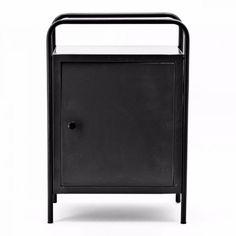 Nachtkastje Locksmith zwart - By Boo - www. Boy Room, The Hamptons, Magazine Rack, Storage, Interior, Furniture, Home Decor, Boys, Home