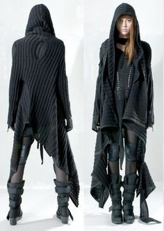Post apocalyptic dress, by Demobaza.....apocalyptic fashion, post-apocalyptic fashion, post-apocalypse, dystopian,