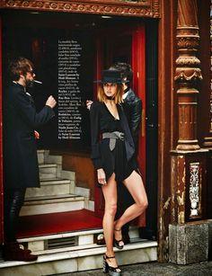 """Rock & Seventies"" Alexandra Tretter by Riccardo Tinelli for ELLE Spain April 2015"