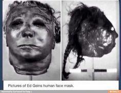 Serial Killer Files: Ed Gein human face mask