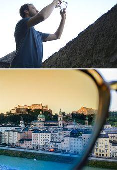 óculos de sol como filtro