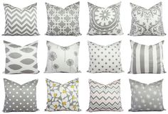 Decorative Pillow Cover Storm Grey and White  by CastawayCoveDecor