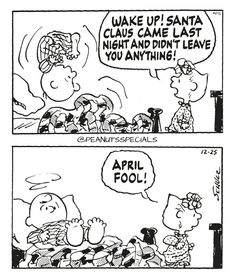 First Appearance: December 25th, 1991 #peanutsspecials #ps #pnts #schulz #charliebrown #sallybrown #wakeup #santaclause #lastnight #aprilfool www.peanutsspecials.com