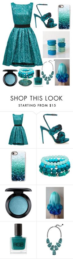 """""""Color Palette- Teal"""" by shineedancer ❤ liked on Polyvore featuring Christian Pellizzari, Marco de Vincenzo, Casetify, MAC Cosmetics, RGB and Kendra Scott"""