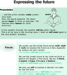 Grade 6 Grammar Lesson 5 Expressing the future: English Teaching Materials, English Writing Skills, English Reading, English Study, Teaching English, Learn English, English English, Academic Writing, English Class