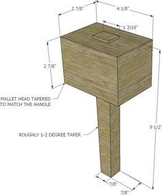 Luxury Wood Work  Wooden Mallet Plan  Easy DIY Woodworking