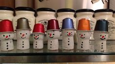 Champagne corks and Nespresso capsules make the cutest festive snowmen! Christmas Crafts For Kids, Christmas Deco, Xmas Crafts, Christmas Tree, Wine Cork Projects, Wine Cork Crafts, Cork Ornaments, Champagne Corks, Coffee Pods