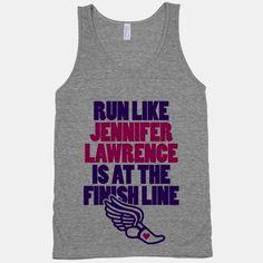 Run Like Jennifer Lawrence Is At The Finish Line | HUMAN