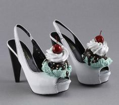 images of unusual shoes | sundae shoes | unusual shoes. I like ice cream, so these would be fitting for me.! lol