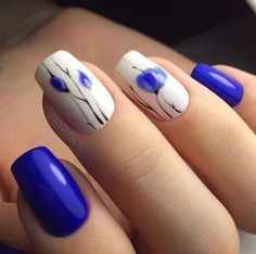 period blue and light blue nail designs. Natural beauty is a must for women. Therefore, you can look at the nail designs designed for you. Easy Nails, Simple Nails, Cute Nails, Pretty Nails, Light Blue Nails, Nailed It, Plain Nails, Floral Nail Art, Beautiful Nail Designs