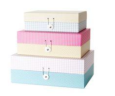 Storage box Grid colour L from Presenttime, cona.dk