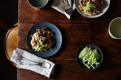 Zhajiang Noodles with Eggplant, a recipe on Food52
