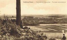1920: beneden de kerk van Pamel en het 'gesticht' van de zusters van Sint-Niklaas. Foto vanop Ledeberg.  Bron info : Dhr Hubert De Bolle