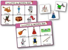 Le loto du Moyen Age, des chevaliers et des princesses