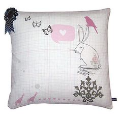 Bunny Daydreamer Cushion - cushions £25