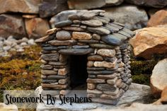 Thank you for visiting my miniature page. I began building miniature stone houses more than twenty years ago. Constructed dry-stack style with reinforced concrete, they are weather hardy and very d...