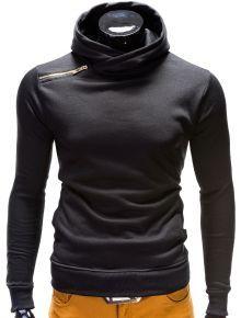 Bluzy męskie z kapturem i bez (3) - Ombre Clothing