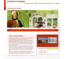 Conception et réalisation du site internet du musée de l'Homme à Paris + frise chronologique interactive #Minitl