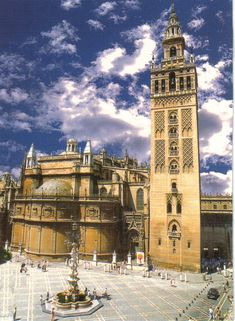La Giralda and the Cathedral, Sevilla, Spain. I called this place home for 1 yr and a half and it is my favorite place on earth. Spanish Architecture, Architecture Images, Islamic Architecture, Places To Travel, Places To Go, Travel Forums, Spain And Portugal, Travel Memories, Kirchen