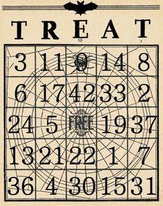 Artistic Hen: Free Halloween Bingo Cards to Download - Part 3