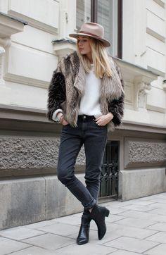 Fake fur & Hat - Josefin Dahlberg