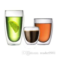 250 350 450mL Clear Handmade Heat Resistant Double Wall Glass Kungfu Tea Drink Cup Healthy Drink Mug Coffee Cup Insulated Clear Glass