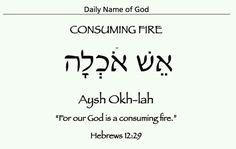 """""""Consuming Fire"""" in Hebrew - Heb.12:29 & Dt.4:24"""