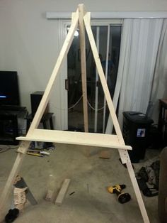 An easel is a freestanding structure used by artists to hold and display a canvas upright as it is being worked on and painted. Easels can also be used as a form of art exhibition. This guide is based on assembling and constructing a large...
