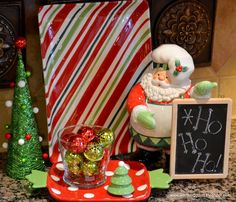 Kitchen Christmas Tree And Decor Via Worthing Court Blog Signs Colorful