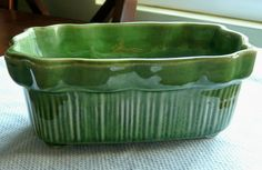 Retro Green Planter by Brush Pottery.