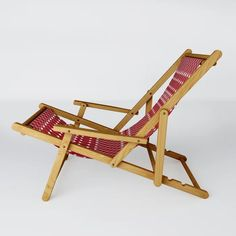 """We've got just the seat for you. Our sling chairs make the perfect backyard or beach companion to help you reach peak relaxation. Let your cares melt away in the polyester hammock-style seat and recline in multiple positions for whatever your lounging style may be. You can take your sling chair anywhere as it folds for easy travel and storage. 24.5"""" W x 32"""" H x 45"""" D Solid wood frame Collapsible Durable, woven polyester seat Spill and splash resistant Every order is custom made just for you…"""