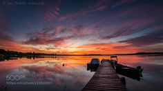 Sunrise reflection by tomsin. Please Like http://fb.me/go4photos and Follow @go4fotos Thank You. :-)