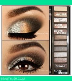 What I like about this pin, is that people who don't have the naked 2 pallet can find these colors in a brown pallet of their choice and get a very similar look.