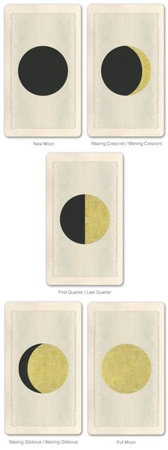 Moon cards from the Pagan Otherworlds Tarot Kickstarter project.