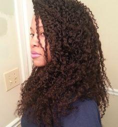 Ebony aka eclark6 - mega twist out on natural hair. #haircrush #officiallynatural