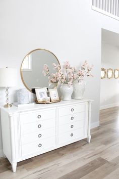Spring Home Tour With Accents Of Blush & Blue – Summer Adams – The Greenspring Home – Design Elegant Home Decor, Elegant Homes, Spring Home Decor, Diy Home Decor, Living Room Decor, Bedroom Decor, Blue Bedroom, Ikea Bedroom, Living Room Furniture