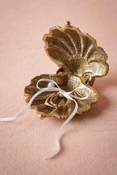 Gilded Seashell Ring Holder from @BHLDN