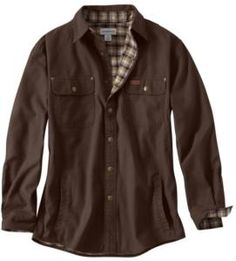 Carhartt Men's Weathered Canvas Flannel Lined Shirt Jac
