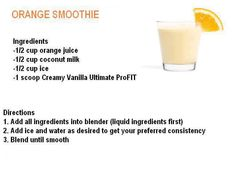 It Works, Orange Smoothie