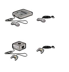 Gaming Consoles & their controllers - Room items
