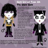 Goth Type 32: The Glam Goth by Trellia
