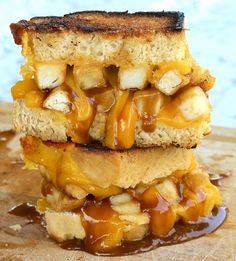 Holy Cow!   fries, gravy, beer bread grilled cheese