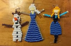 I have completed the pattern drawings for my new Frozen designs, as well as for some Walking Dead characters I made for someone's request. Pony Bead Patterns, Beaded Jewelry Patterns, Beading Patterns, Bracelet Patterns, Stitch Patterns, Science Crafts, Craft Activities For Kids, Crafts For Kids, Craft Ideas