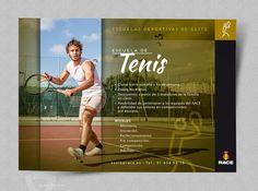 Flyer publicitario Escuelas Deportivas RACE - Tenis