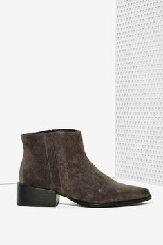 Grey City West Suede Ankle Boot